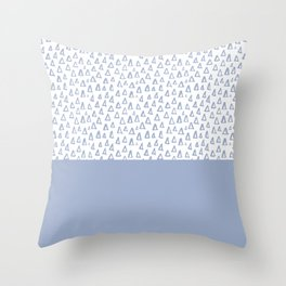 Triangles Light Blue Throw Pillow
