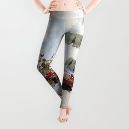 African American Masterpiece, A Woman at Rest portrait painting Leggings