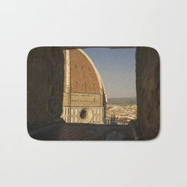 looking at the Duomo Firenze italy Bath Mat