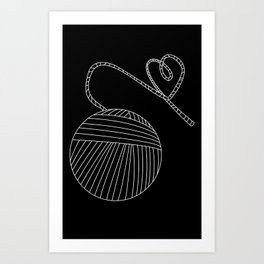 Yarn Love Art Print