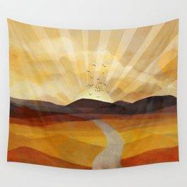 Desert in the Golden Sun Glow II Wall Tapestry