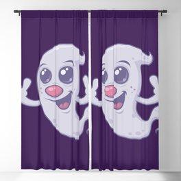 Cute Retro Ghost Blackout Curtain