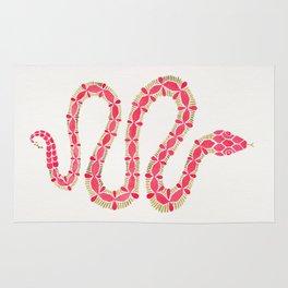 Pink & Gold Serpent Rug