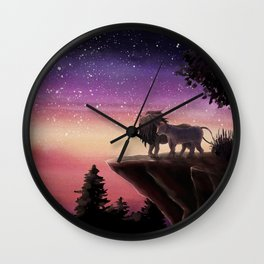 'Who is the strongest?' Illustration 9 (Original) Wall Clock