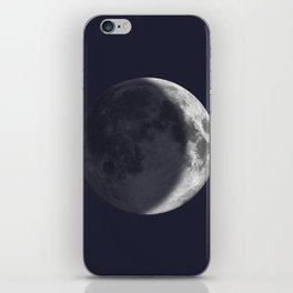 Waxing Crescent Moon on Navy iPhone Skin