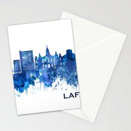 Lafayette Louisiana Skyline Blue Stationery Cards