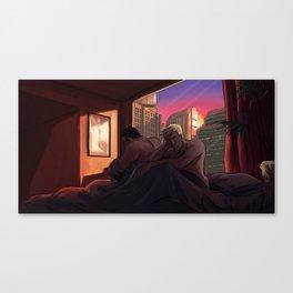 Neon Apartment Canvas Print