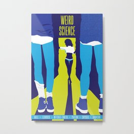 80s TEEN MOVIES :: WEIRD SCIENCE Metal Print