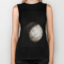 Battered Baseball in Black and White Biker Tank