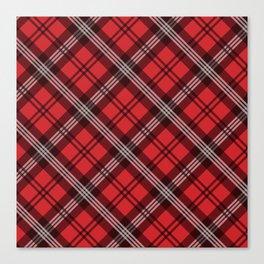 Scottish Plaid-Red Canvas Print
