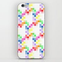 pixel iPhone & iPod Skins featuring Pixel by AJJ ▲ Angela Jane Johnston