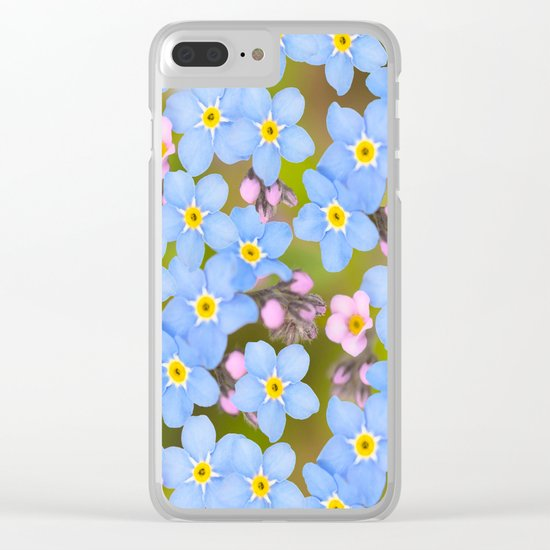 Forget-me-not flowers and buds - summer meadow Clear iPhone Case
