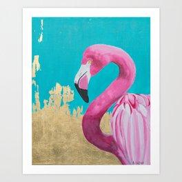 Flora the Flamingo Art Print