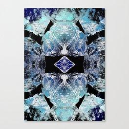 Turquoise Mandala-Throat Chakra Canvas Print