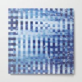 Nautical pixel abstract pattern Metal Print
