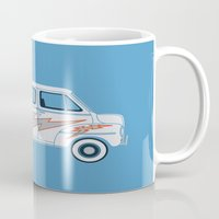 grease Mugs featuring Grease Van Lightning by Brandon Ortwein