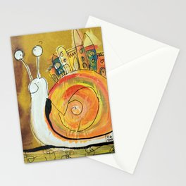 Happy Snail Stationery Cards