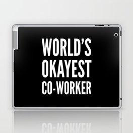 World's Okayest Co-worker (Black & White) Laptop & iPad Skin