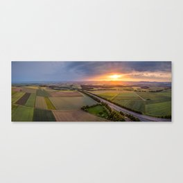 Sunet panoramic shot Canvas Print