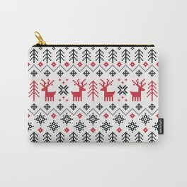 HOLIDAY SWEATER PATTERN Carry-All Pouch