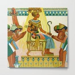 Vintage 1933 Belgian Egyptian Motif Isis Osiris Liebig's Beef Extract Lithograph Advertisement Poste Metal Print