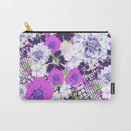 Croc Floral Goes Purple Carry-All Pouch