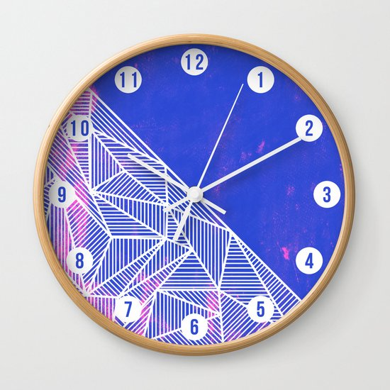 B Rays Geo Punk Wall Clock