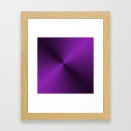 Black and Vibrant Purple Gradient Pattern Framed Art Print