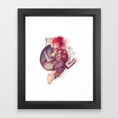 flu & cat Framed Art Print