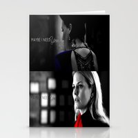 swan queen Stationery Cards featuring Swan Queen by EvilQueenFann