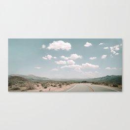THE ROAD THROUGH THE DESERT Canvas Print