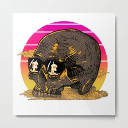 End Of Time - Skull Design Metal Print