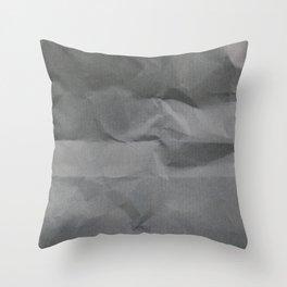 Black Paper Texture Background Throw Pillow