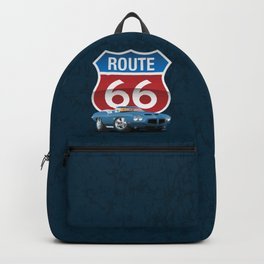 Route 66 Classic Car Nostalgia Backpack