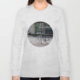 Bike locked to parking meter Long Sleeve T-shirt