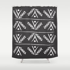 charcoal wreath Shower Curtain