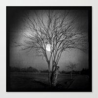 lonely Canvas Prints featuring LONELY by Anna Andretta