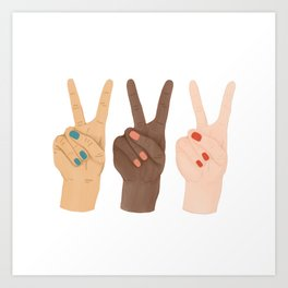 Peace Hands Art Print