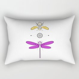 Two Insects Rectangular Pillow