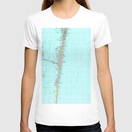 Seaside Park & NJ Shore Map (1989) T-shirt