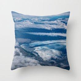 Aerial Glacier Five - Alaska Throw Pillow