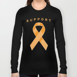 Orange Awareness Ribbon Long Sleeve T-shirt