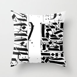 CALLIGRAPHY N°4 ZV Throw Pillow