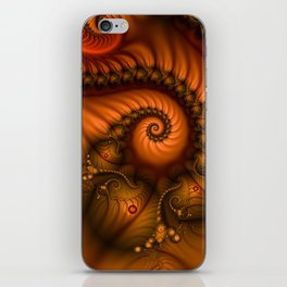 Warmth, abstract Fractal Art iPhone Skin