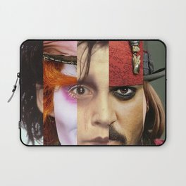 Faces Johnny Depp Laptop Sleeve