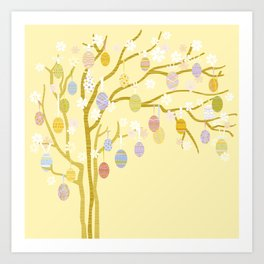 Easter Tree Art Print