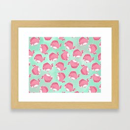 Pink Unicorn LTK pattern Framed Art Print