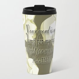Scripture Gray,White Rose Travel Mug