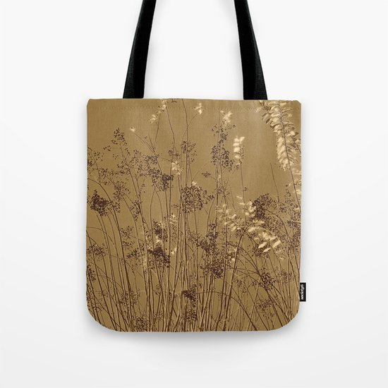 Thin Branches Sepia Tote Bag