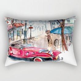 Red retro car Rectangular Pillow